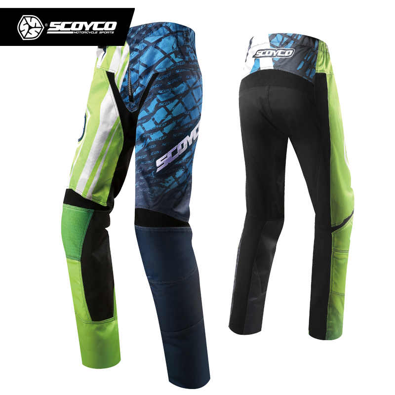 цена на SCOYCO Professional Men Motorcycle Dirt Bike MTB DH Riding Trousers Motocross Off-Road Racing Hip Pads Pants Breathable Clothing
