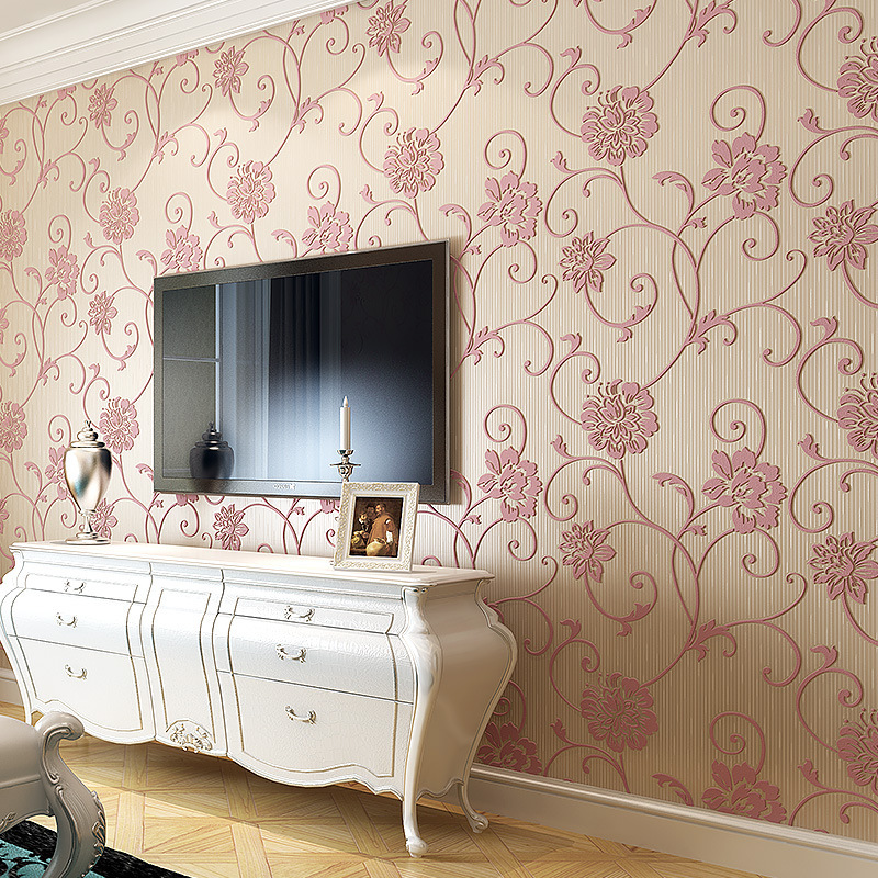 Online buy wholesale hot pink wallpaper from china hot for Wallpaper home value