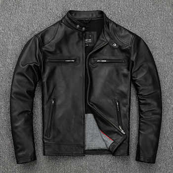 Free shipping.classic casual style,Plus size soft sheepskin Jackets,men genuine Leather jacket.motor biker leather coat,sales - DISCOUNT ITEM  5% OFF All Category