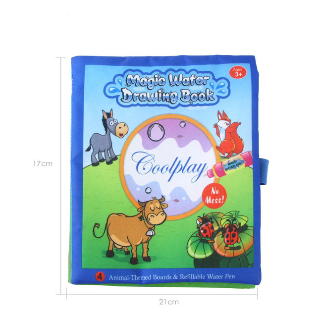 1PC New Magic Kids Water Drawing Book + 2 Magic Pen / Children ...