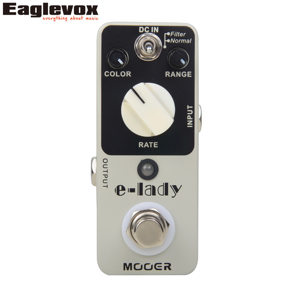 Mooer E-lady Flanger Analog Effects Electric Guitar Effect Pedal True bypass aroma atr 3 twister analog mini single effect flanger electric guitar effect pedal true bypass