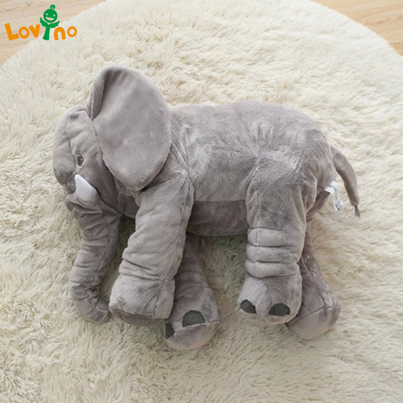 1PC 40/60cm Infant Soft Appease Elephant Playmate Calm Doll Baby Appease Toys Elephant Pillow Plush Stuffed Doll DropShipping цена