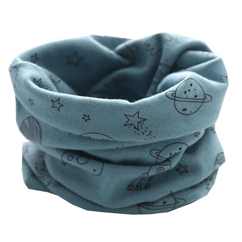Осенне-зимний детский хлопковый плюшевый шарф, детский шарф для девочек, шарфы для мальчиков и девочек, детский воротник, детский волшебный шейный платок с круглым вырезом - Цвет: blue moon star