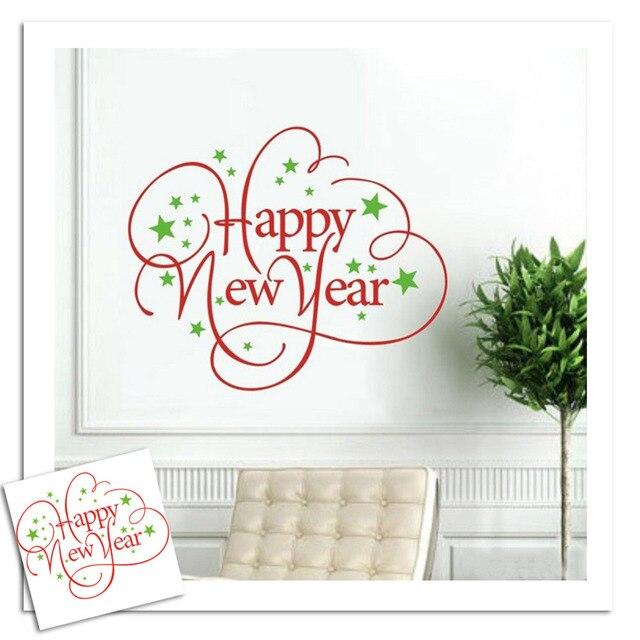 Frohes Neues Jahr Englische Wörter Stern Wandtattoos Festival ...