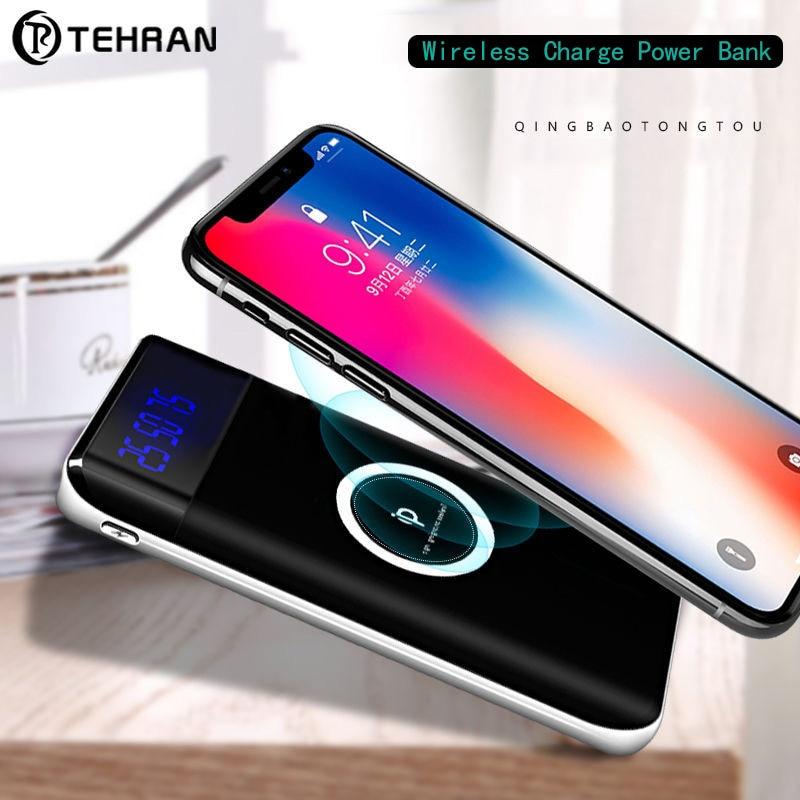 10000 мАч реального Ёмкость Запасные Аккумуляторы для телефонов для iphone 8 8 плюс Беспроводной Комплекты внешних аккумуляторов Тип-C микро-Порт...