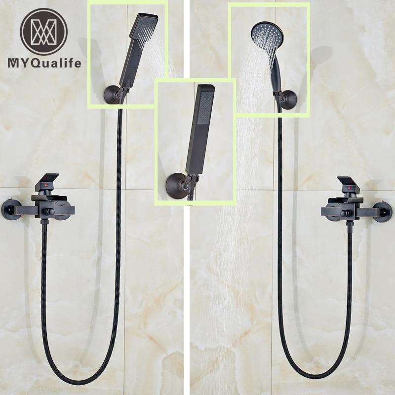 2016 Promotion Bathroom Handheld Shower Faucet Set Wall Mounted Single Handle Bathtub Shower Mixers