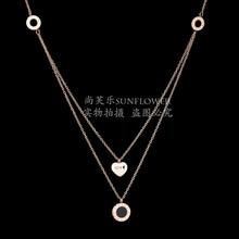 Eleple Simple Roman Numeral Double Layer Necklaces Women Elegant Love Stainless Steel Necklace Manufacturers Wholesale SLTP 5-3