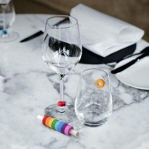 Image 4 - Youpin יין זכוכית זיהוי טבעת זיהוי סמני אדום יין מזון קשר רמת רחב טווח של כוסות
