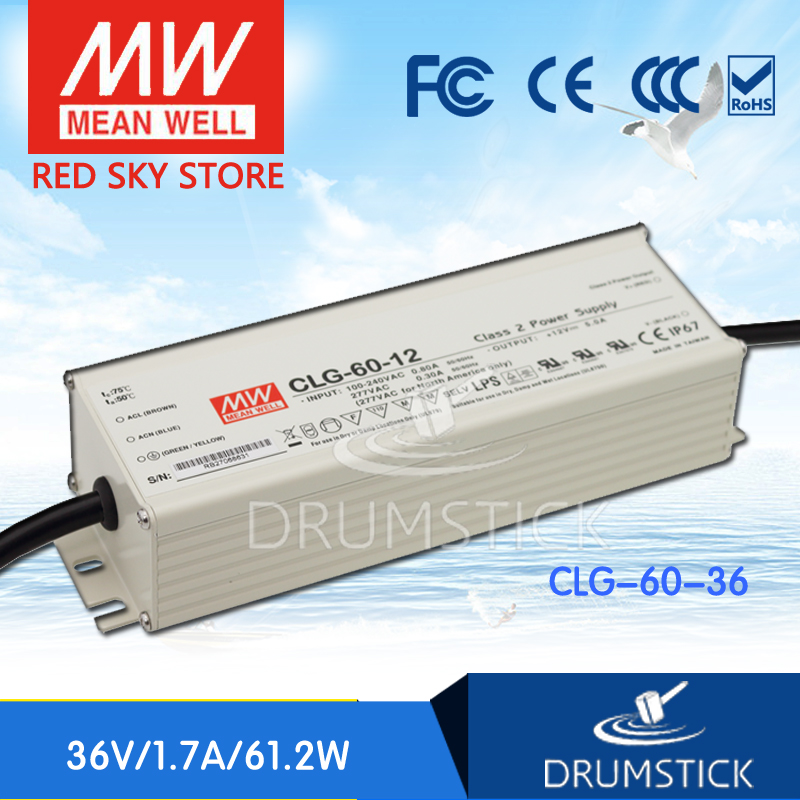 Selling Hot MEAN WELL CLG-60-36 36V 1.7A meanwell CLG-60 36V 61.2W Single Output LED Power Supply mean well clg 150 12b 12v 11a meanwell clg 150 12v 132w single output led switching power supply [real6]