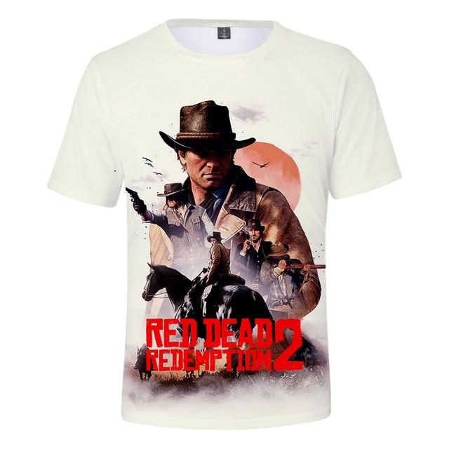 f7dac347286 BTS 3D Red Dead Redemption 2 T-shirt Men American New Game Short T-shirt  Women men 2018 Fashion Casual 3D Funny T-shirt XXS-4XL