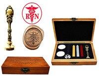 RN Nurse Vintage Custom Luxury Wax Seal Sealing Stamp Brass Peacock Metal Handle Sticks Melting Spoon