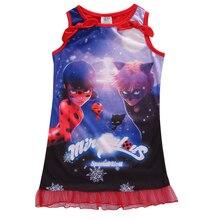 Muchachas Sin Mangas del verano Vestido de niña Milagrosa escarabajos Mariquita Disfraz Disfraces Tamaño 5-16Y(China (Mainland))