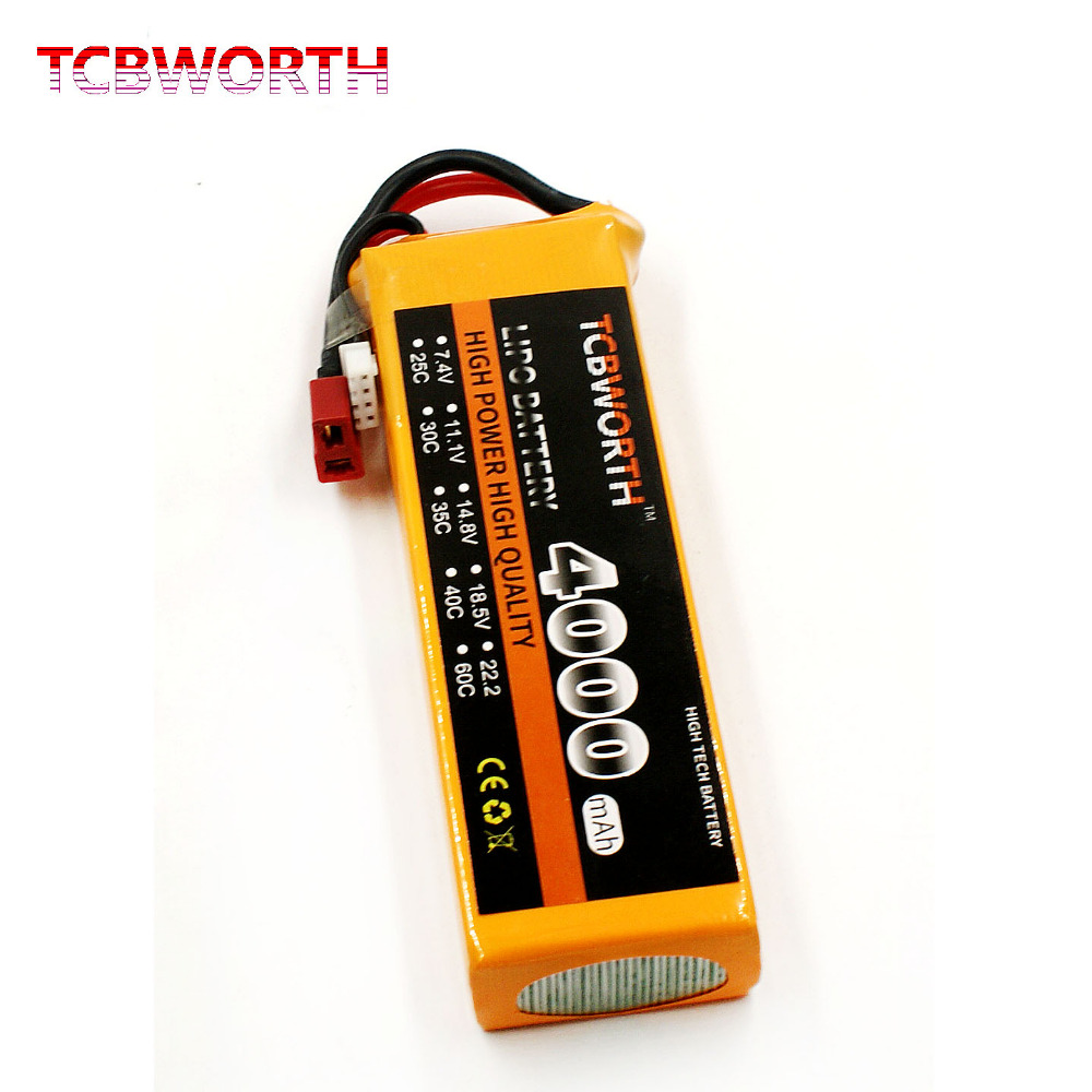 TCBWORTH RC LiPo Drone battery 2S 7.4V 4000mAh 35C-70C For RC Helicopter Quadrotor Airplane Car boat Truck Li-ion battery 2pcs hrb rc lipo 3s battery 11 1v 3000mah 35c max 70c drone akku for rc bateria helicopter airplane car boat quadcopter uav fpv