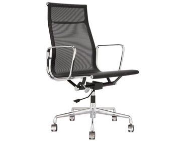 Modern Designer Iconic Highback Ribbed Aluminum Group Management Chair Mesh  Upholstery, Free Shipping By China Post Air Parcel