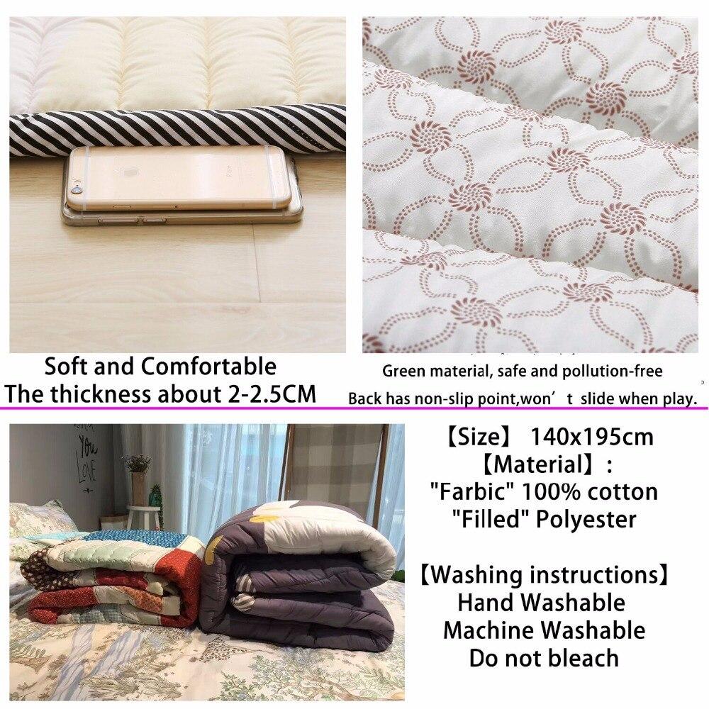 Tapis bébé tapis de jeu enfants tapis bébé Playmate 140X195X3 CM tapis lavables en Machine pour salon anti-dérapant chambre 55X76 Inch - 4