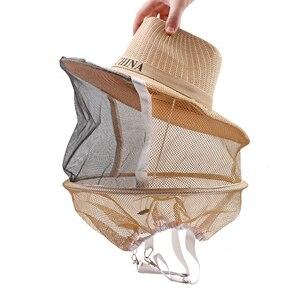 Image 2 - כוורת כוורות קאובוי כובע אנטי דבורת כילה נגד דבורת חרקים נטו רעלה ראש פנים מגן כוורן ציוד