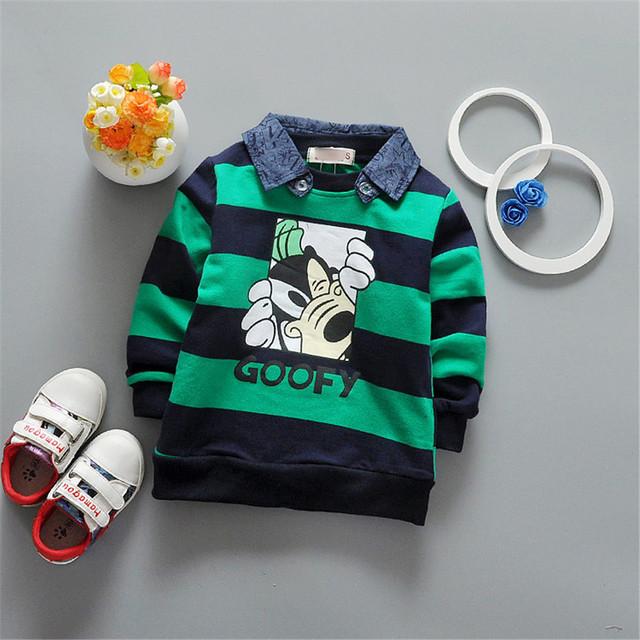 2017 disigner Removível colarinho roupas de bebê menino manga longa t shirt roupas garoto moda infantil crianças roupas de bebe 3-OM162