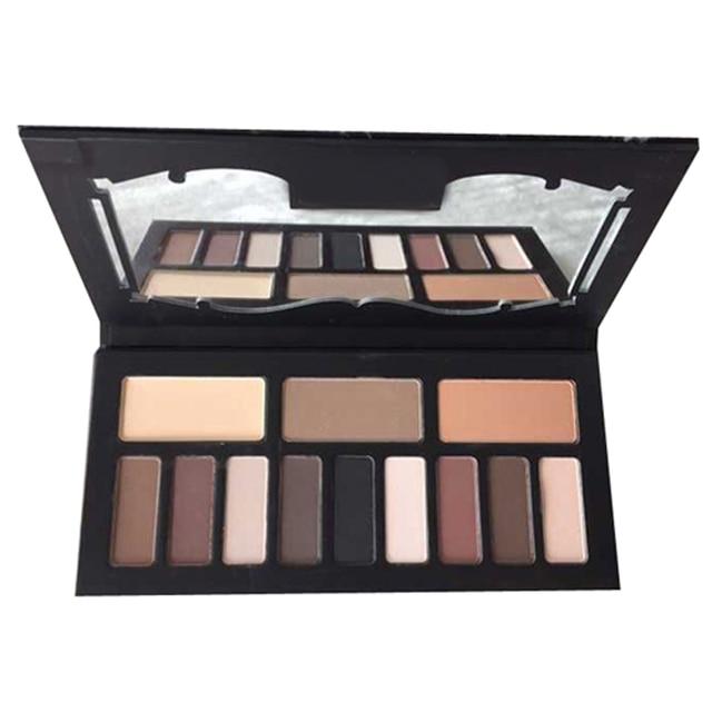 Brand Makeup Eye Shadows 12 colors Matte Eyeshadow palette Kit Contour Power,Make up contouring  face primer pigment contorno