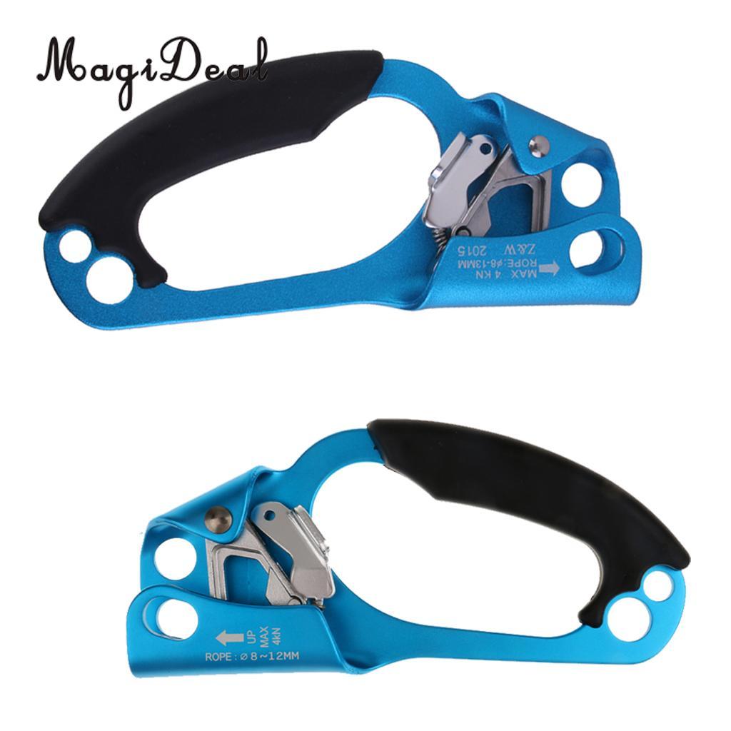 MagiDeal Climbing Hand Ascender Right and Left Handed for Arborist Tree Rock Climbing Rigging Equipment Gear e0037 right hand ascender professional aerospace aluminum ascenders for outdoor mountaineering rock climbing