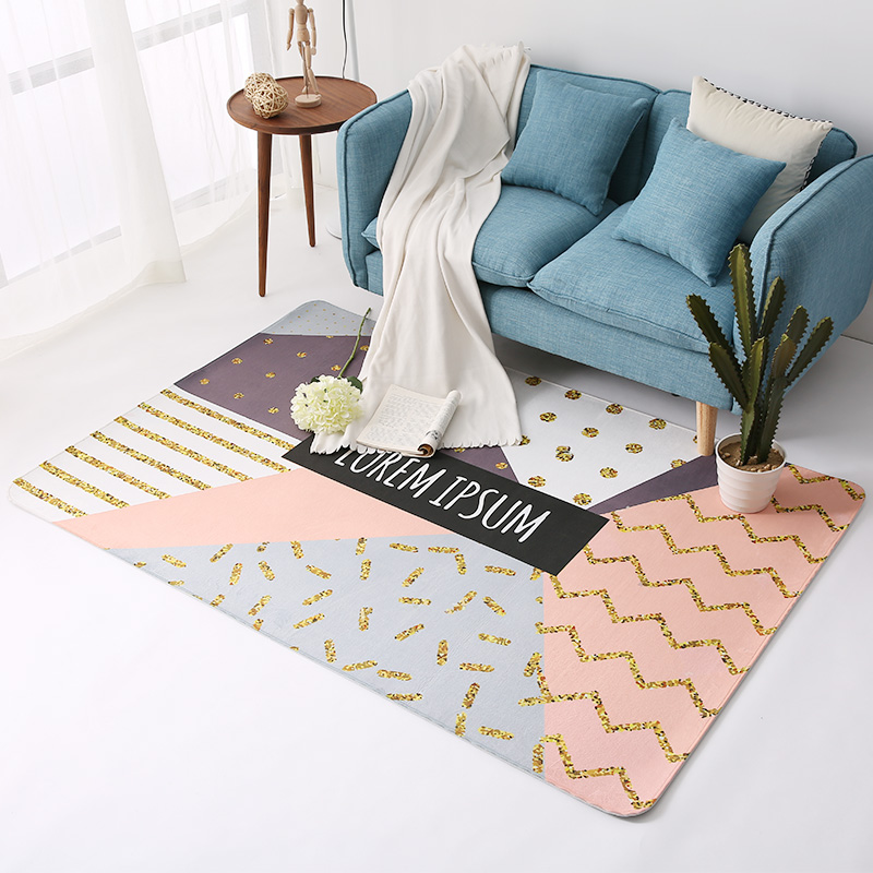 Trend Geometric Rugs And Carpets Home Living Room Abstract Rugs Cloakroom Carpet For Bedroom Non-Slip Coffee Table Floor MatsTrend Geometric Rugs And Carpets Home Living Room Abstract Rugs Cloakroom Carpet For Bedroom Non-Slip Coffee Table Floor Mats