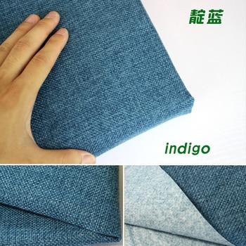 Yarda Cojines.Indigo Recubierto Lino Telas Sofa Cojines Fabirc Diy Craft Costura