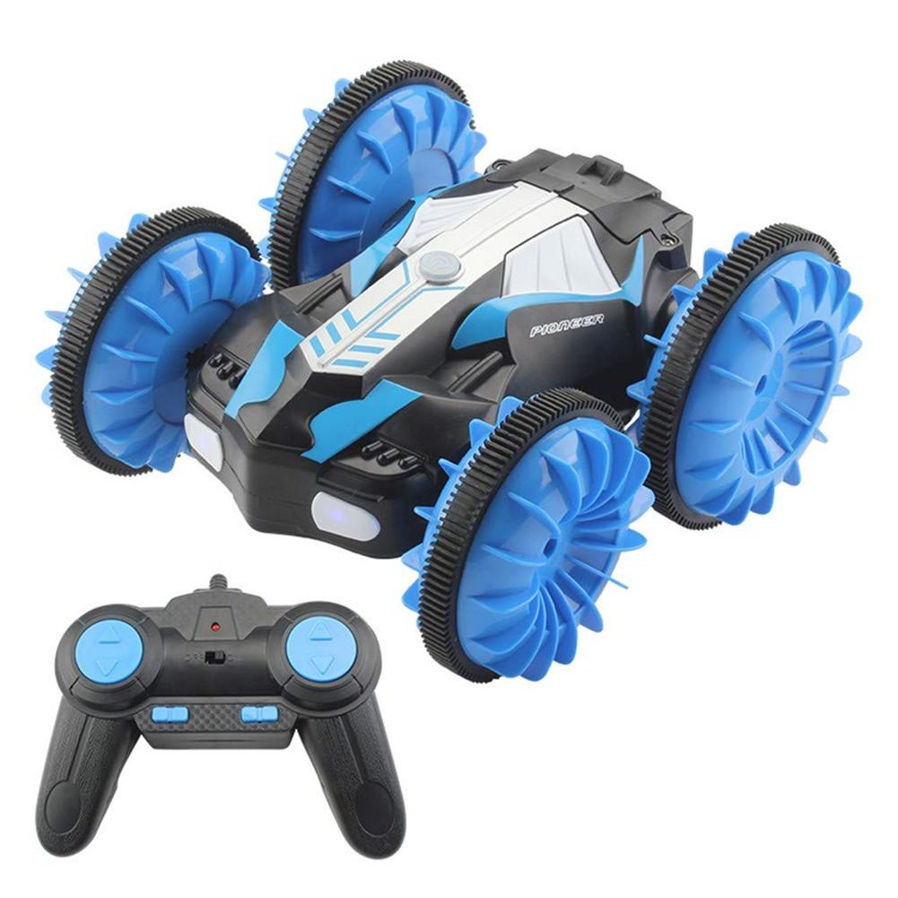 LeadingStar TAW-C10 2.4G Water Land Amphibious Agents Waterproof Double Side Remote Control Stunt Car Toy