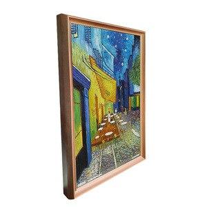 Image 3 - 49 pulgadas marco de madera maciza digital publicidad reproductor marco de fotos electrónico para museo de arte