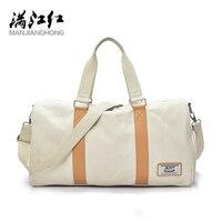 MANJIANGHONG Fashion Men's Travel Bag Large Capacity Leisure Canvas Handbag Simple Personality Shoulder Messenger Bag