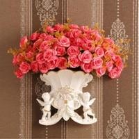 European angel vase, wall hanging home creative living room wall decoration pendant