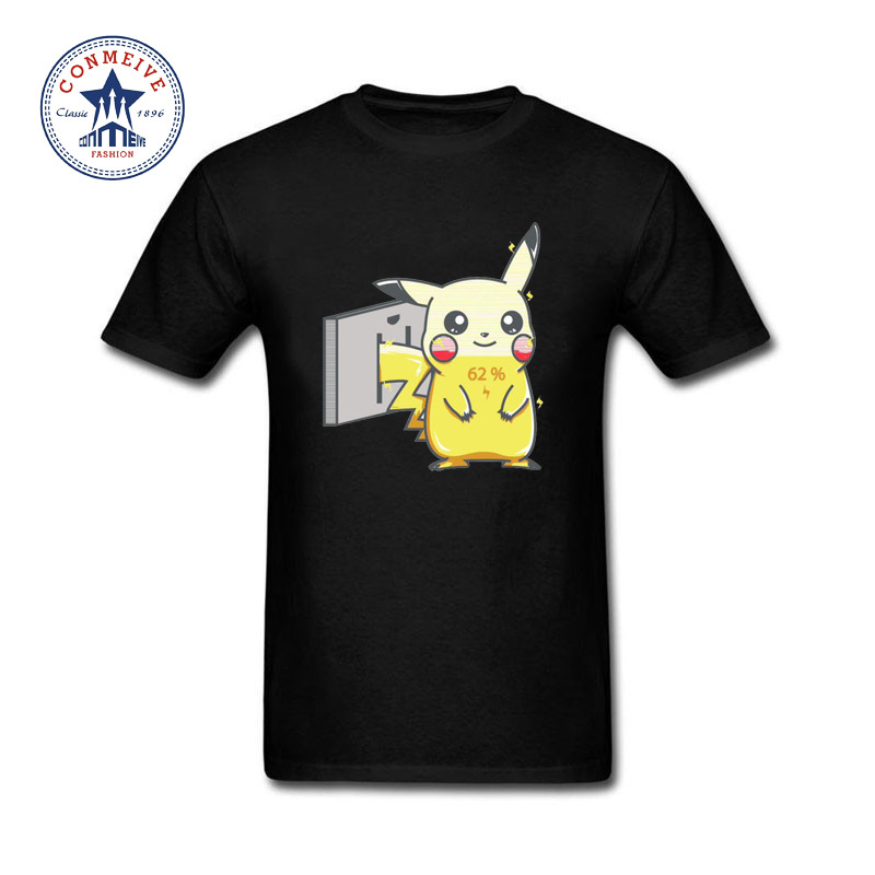 2017 Natural Cotton Funny Pikachu Pokemon In Charge Funny T Shirt For Men