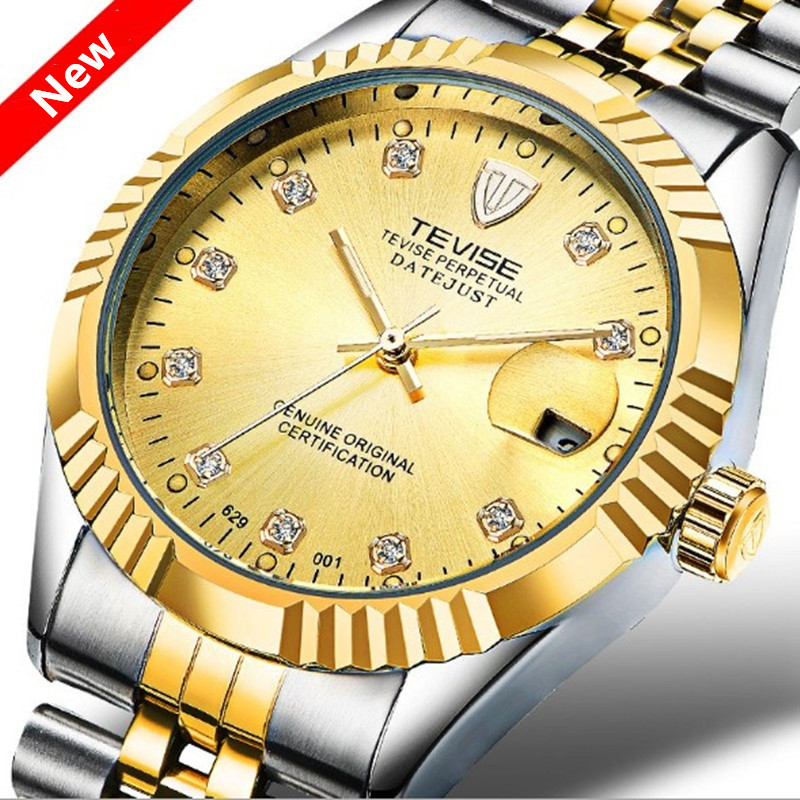 Luxury Brand TEVISE Men Watch Waterproof Automatic