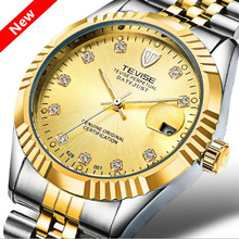 Luxury Brand TEVISE Men Watch Waterproof Automatic Mechanical Fashion Wristwatch Luminous Sport Casual Steel Watches Gift