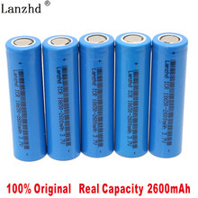 1PCS-8PCS 2019 batteries 18650 3.7V  Li-ion ICR18650 2600mAh Lithium Rechargeable Battery For samsung Flashlight