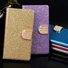 Flip phone case For ZTE Blade AF3 T221 D3 Q806T L110 A112 A110 S6 Plus S7 leather wallet style Shining protective Luxury cover