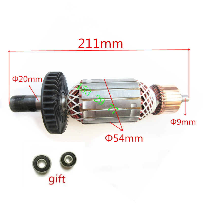 AC220-240V Rotor Engine Motor Armature Replacement for MAKITA 3612C 3612CY 3612CX 3612CXY 516509-7 516508-9 Rotor Armature ac 220 240v armature motor rotor replacement for bosch gbm500re gsb450re psb400re gsb13re gbm400re armature parts engine