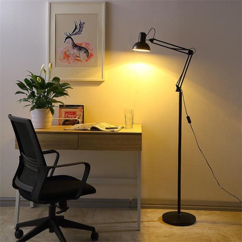 Floor Lamps For Living Room: Living Room Floor Lamp American Led Folding Standing Light