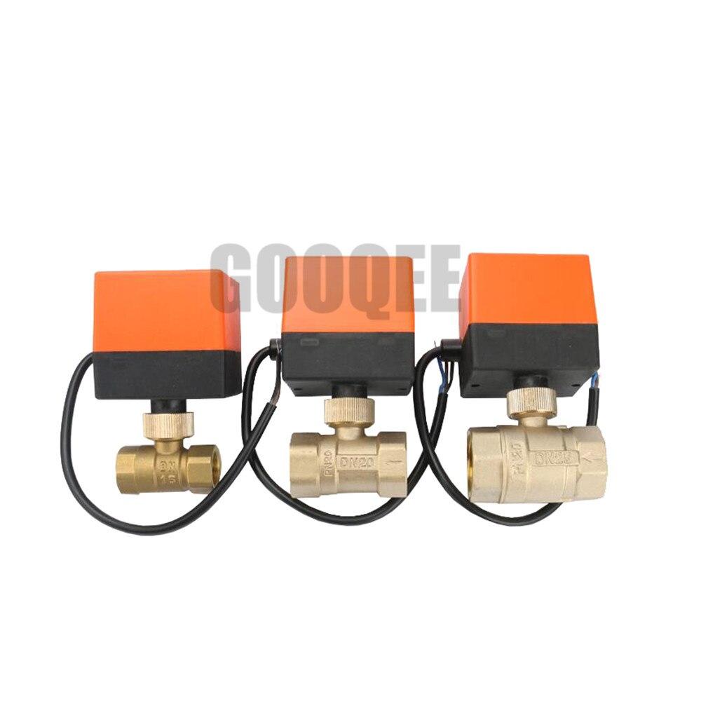 все цены на Electric Actuator Brass Ball Valve DN20(G 3/4
