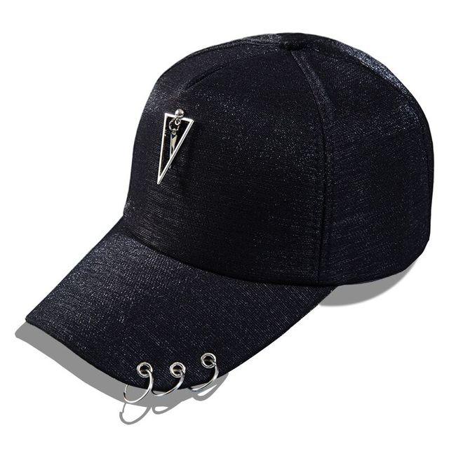 763e57670 Tag do metal Estilo Hip-hop Lantejoulas Boné de beisebol Snapback Caps  Acessórios de Pérola
