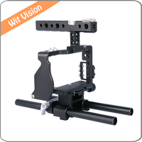 Professional Video Cage Rig Kit Film Making System With 15mm Rod For Sony A6000 A6300 A6500