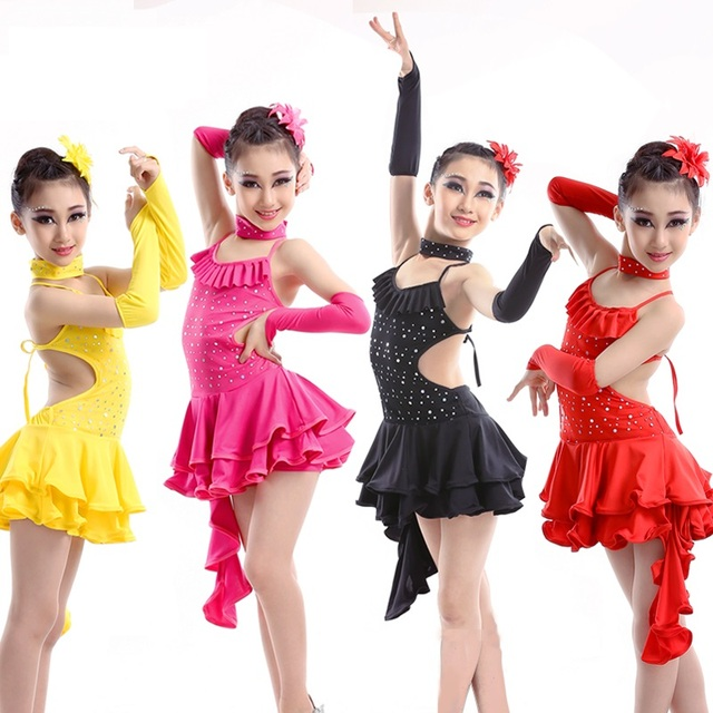 4f8675d735b20d Dans kostuums kind voor meisjes sexy samba latin samba salsa professionele  dans dress kids rokken ballroom