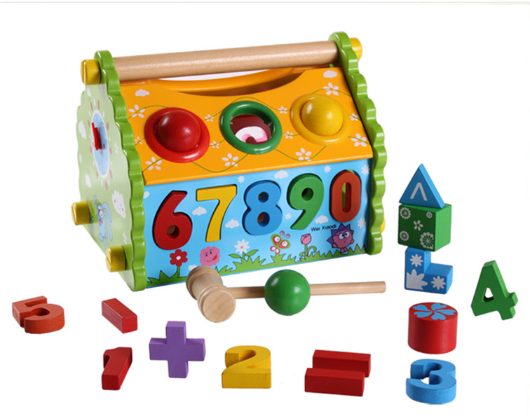 Educational decryption toys early education toys interactive toys mobile toys building blocks DIY house blocks interactive toys
