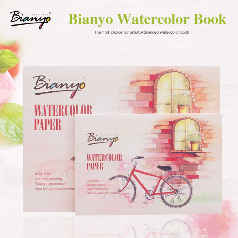 Bianyo A5 A6 12 Sheets Watercolor Paper Sketch Book Set For Watercolor Drawing Painting Pad School Student  Art Supplies