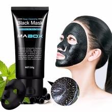 Mabox черная маска отшелушивающая бамбуковый уголь Очищающая маска для удаления черных точек глубокое очищение для акнескаров пятна морщин лица