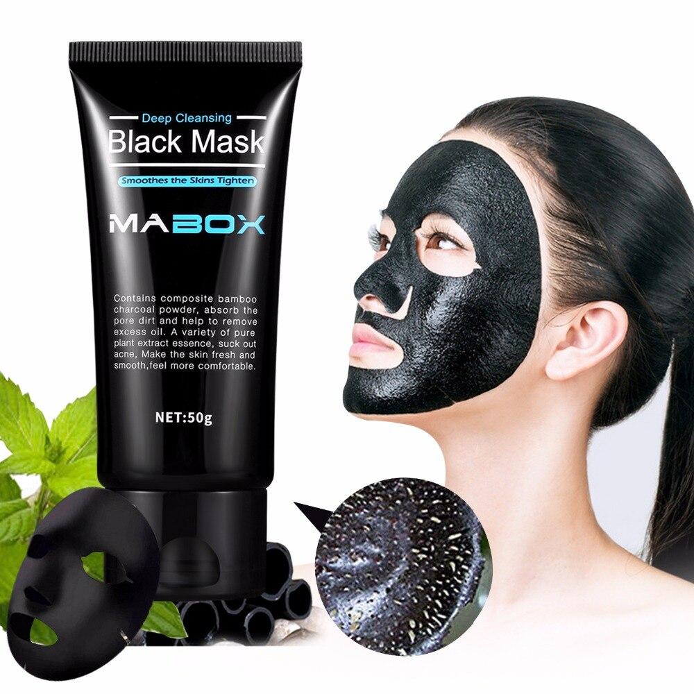 Mabox черная коллагеновая маска от бамбукового угля Очищающая маска для удаления угрей глубокая Очищающая Маска Для AcneScars губит морщинок лица