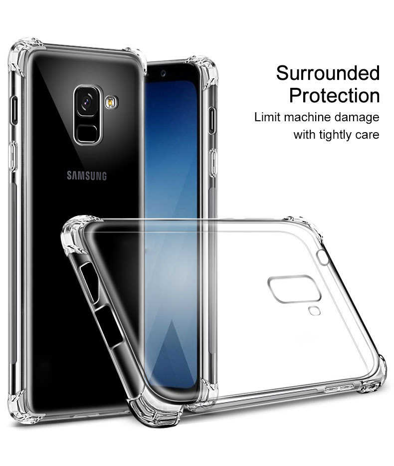 adac1cea7be ... luxury Clear Soft Silicone TPU Bumper Case For Samsung Galaxy J3 J7 Duo  J4 J6 J8 ...