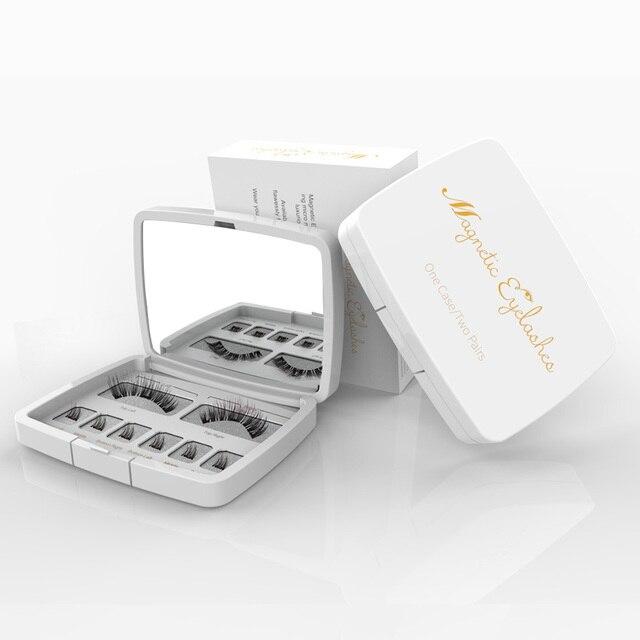 Genailish 8pcs 3D Magnetic Eyelashes Mink Lash Full Strip Lashes False Eyelash With Tweezers Double Magnet Fake Lash  SCT-W-602 1