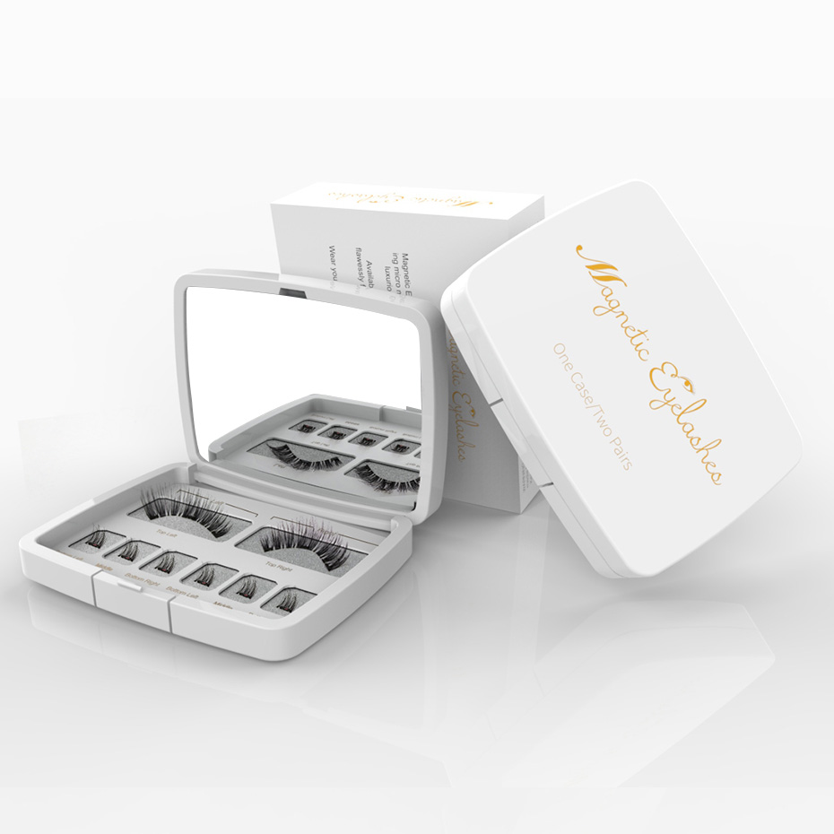 VICILEY 8 stücke 3D Magnetische Wimpern Nerz Lash Voller Streifen Wimpern Falsche Wimpern Mit Pinzette Doppel Magnet Gefälschte Lash SCT-W-602