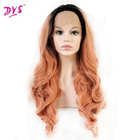 Deyngs Ombre Orange Color Synthetic Lace Front Wigs for Black Women Natural Heat Resistant Guleless Party Fully Lace Wigs