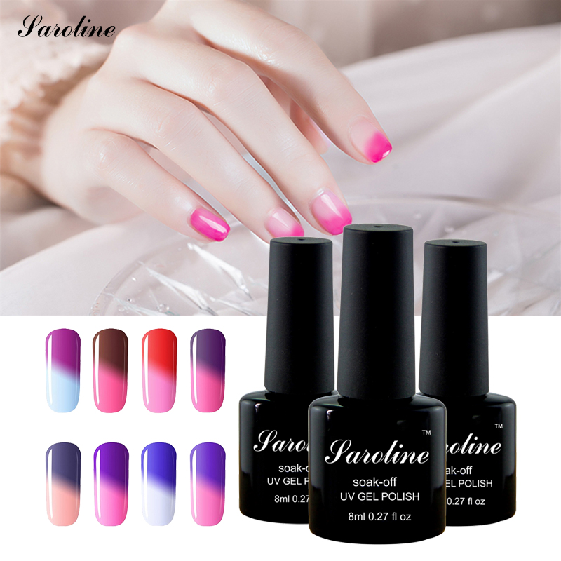 saroline font b Nail b font font b Gel b font Polish Temperature Change Color Changing