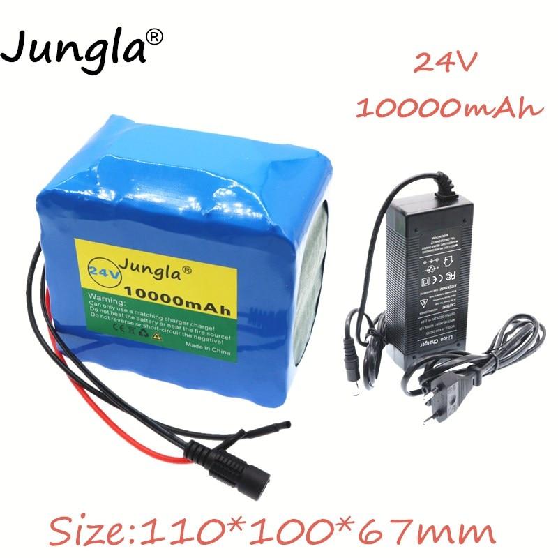 2019 24 V 10Ah 6S5P 18650 li-ion batterie pack 25.2 v 10000 mAh vélo électrique cyclomoteur/électrique/lithium ion batterie pack + 2A chargeur